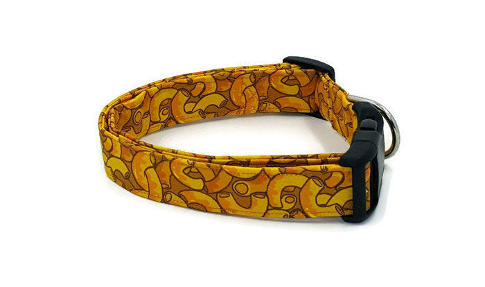 Comfort Time Macaroni and Cheese Orange Dog Collar Mac
