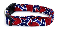 Battle Flag Dog Collar Rebel Dog Collar