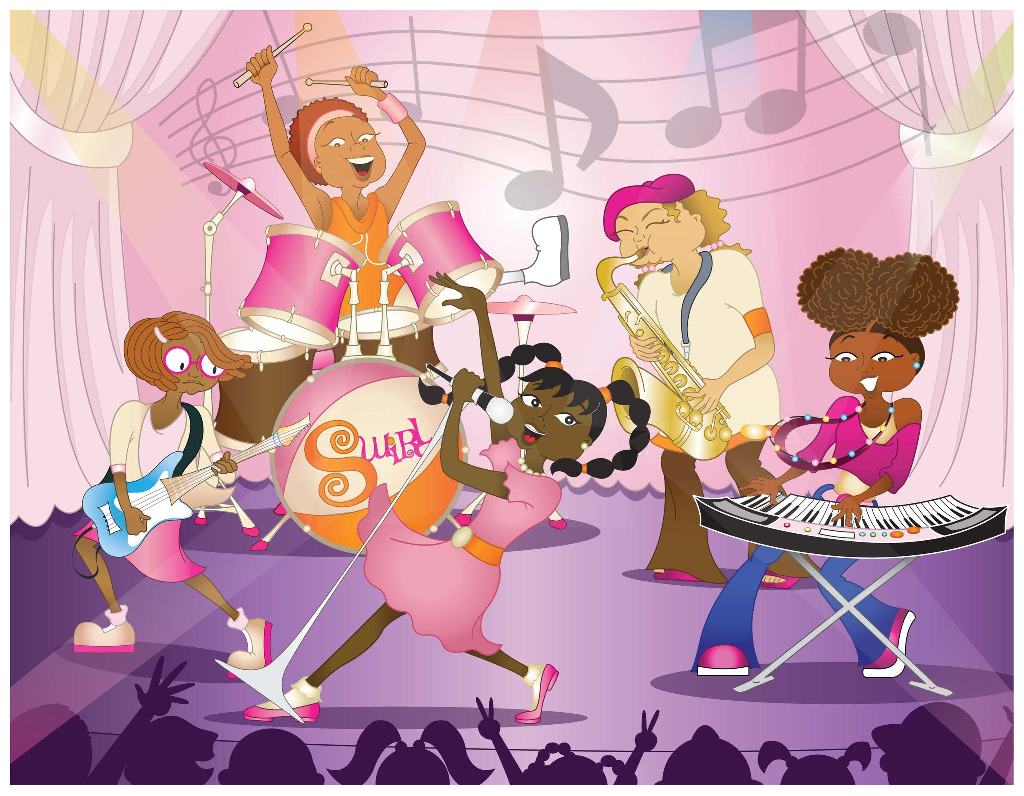 Character Poster | SWIRL, the band featuring the Chocolate Cupcake characters!