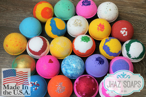 Bath bomb fizzy pack of 10 premium large fizzies 5 oz. tennis ball size