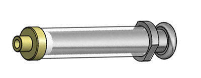 Heavy Duty Metal Flange and Knob Glass Syringes For Infusion Pumps