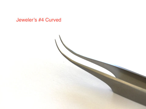 Jeweler's # 4 Curved Tips
