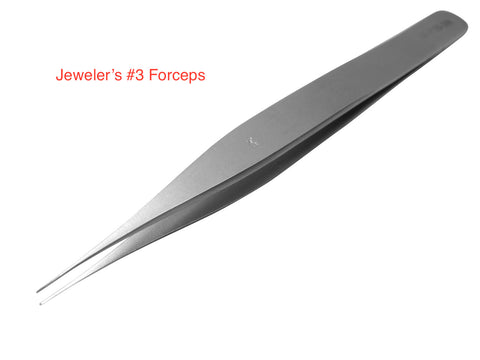 Jeweler's Forceps #3 Stainless Steel