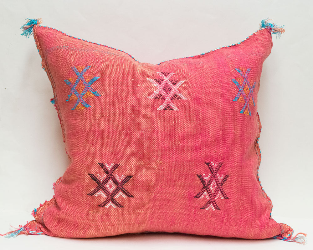 Moroccan Agave Cactus Silk Pillows | Worldwide Textiles