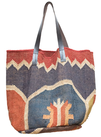 Kilim Carpet Tote Bag | Worldwide Textiles