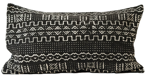 Mali Mudcloth Lumbar Pillowcase | Worldwide Textiles