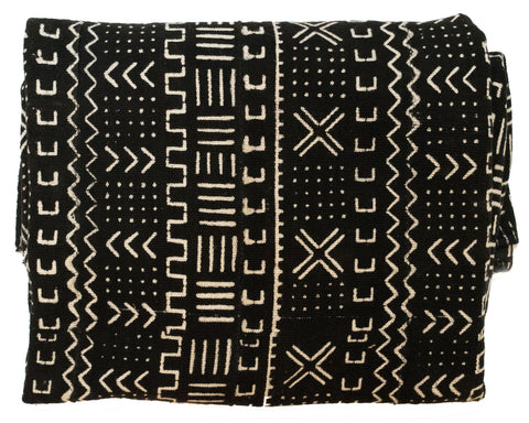 Mali Mudcloth Tribal Throw Blanket | Worldwide Textiles