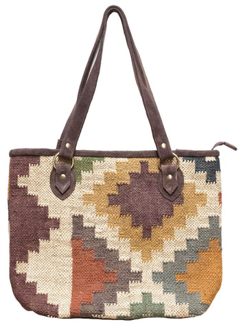 Large Kilim Carpet Bag | Worldwide Textiles