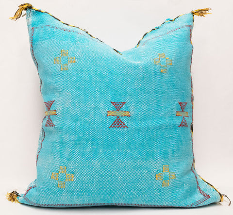 Moroccan Agave Cactus Silk Pillow