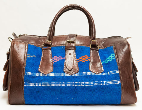 Moroccan Kilim Carpet Weekender Duffel Bag | Worldwide Textiles
