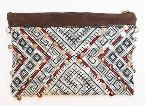 Moroccan Kilim Cross Body Satchel Bag | Worldwide Textiles
