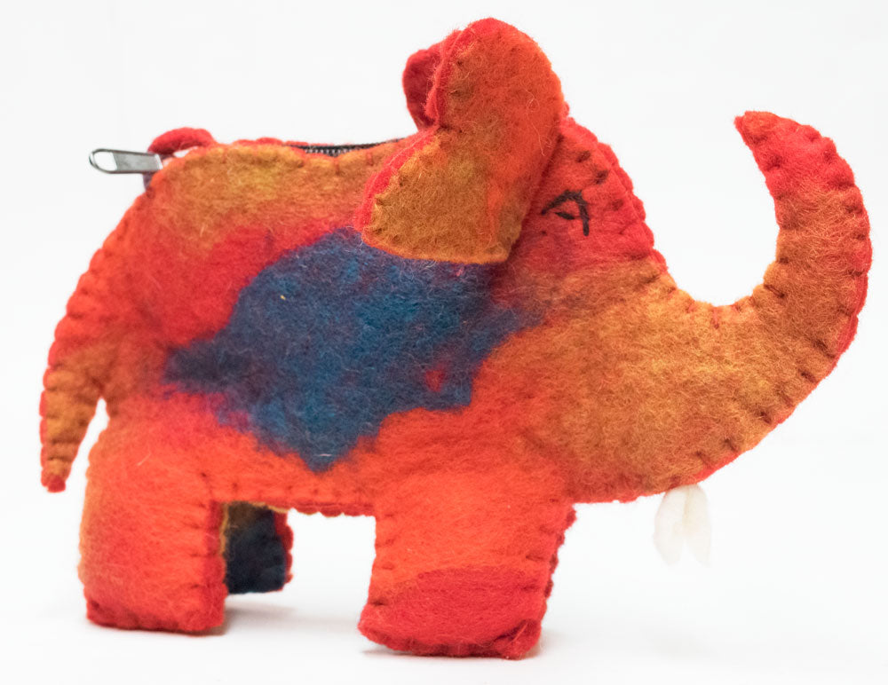 Felt Elephant Purse | Worldwide Textiles