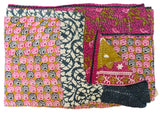 Vintage Indian Kantha Quilt | Worldwide Textiles