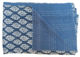 Indian Blockprint Kantha Quilt | Worldwide Textiles