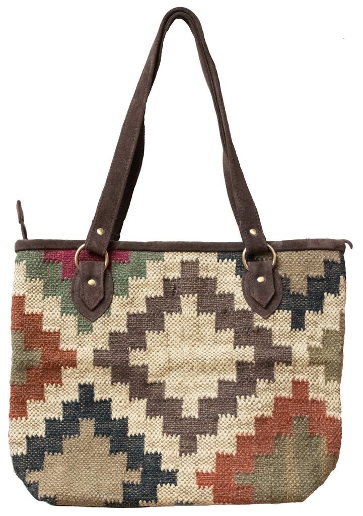 Indian Kilim Carpet Bag Purse
