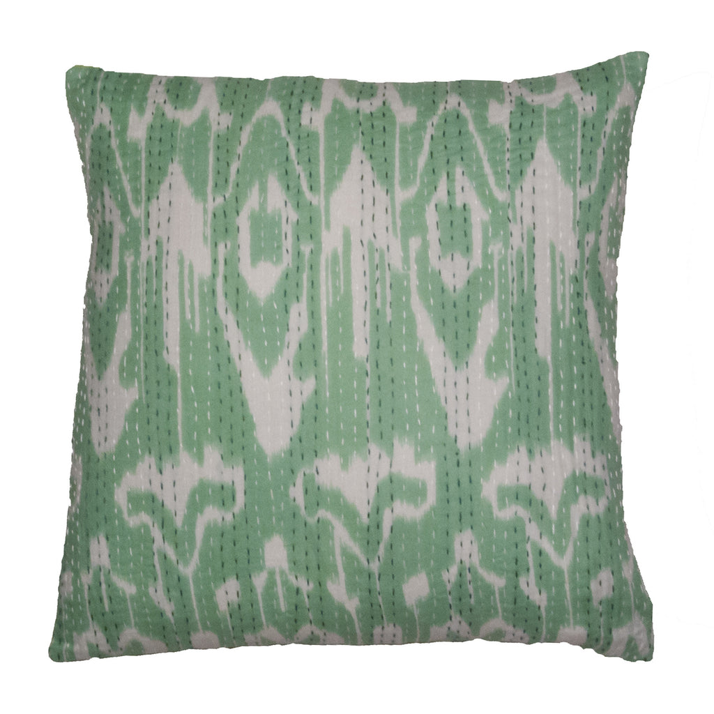 Indian Ikat Kantha Pillow
