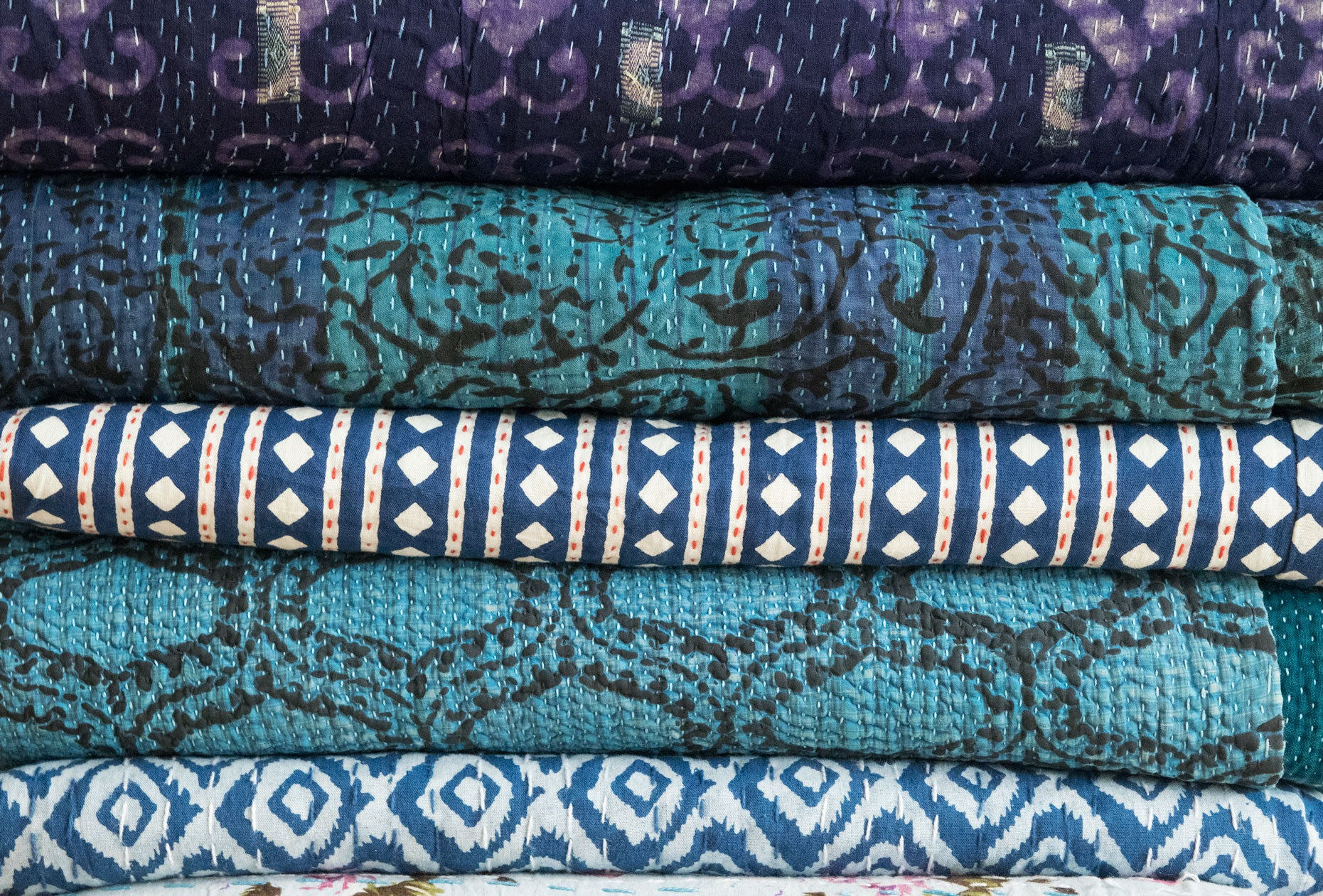 Vintage Indian Kantha Quilts