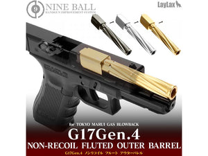 Nine Ball Non-Recoiling Fixed Twist Outer Barrel For Marui G17 Gen4. (See Colors)