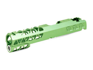 Airsoft Masterpiece Aluminum Triangles Slide Ver.2 For Hi-CAPA/1911 (Lime)