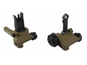 KAC Style CNC 300mm Front and Rear Sight (FDE)