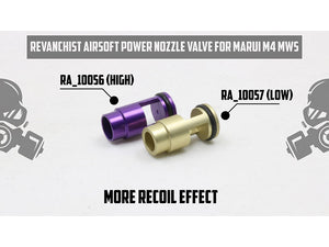 Revanchist Airsoft Nozzle Valve For Marui M4 MWS (Lowe Power)