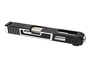Gunsmith Bros FI-Style G34 Aluminum Slide (TwoTone) & Stainless Barrel (Silver) Kit Set