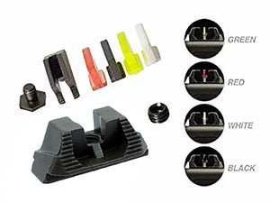 Strike Industries Modular Blade Fiber Optic Front and Rear Sights for Glock Handgun (with 4 Colors)