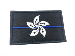 Hong Kong Flag with Velcro (Black)