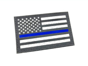 Reflective Patch USA Flag (Black/Blue) with Velcro