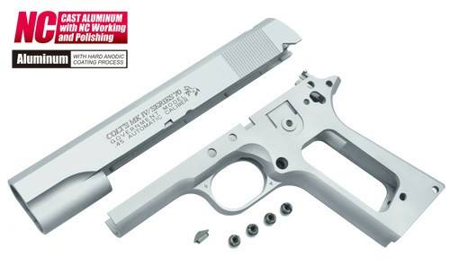Guarder Aluminum Slide & Frame for MARUI Series'70 (with Marking/Silver Color)