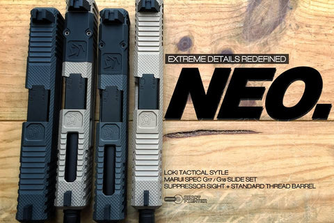 Ready Fighter LTK Neo RMR Cut Slide Set For Marui G18C GBB (Grey/Bronze)
