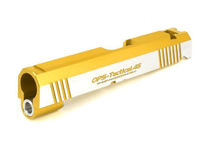 Airsoft Masterpiece OPS-Tactical .45 Standard Slide for Hi-Capa 4.3 (Gold, Two Tone)