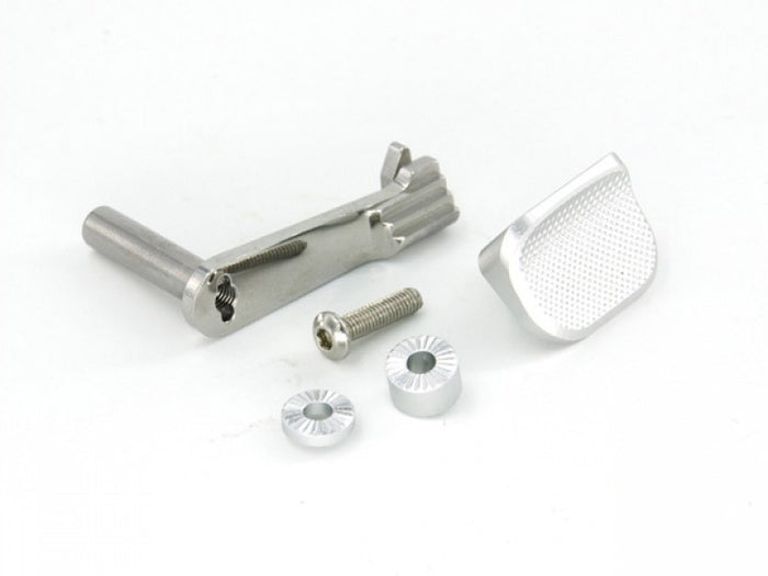 AIP Stainless Slide Stop with Thumbrest for Hi-Capa (Silver)