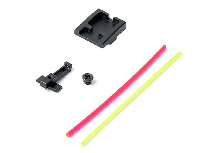 AIP Alumimun Front and Rear Sight (Fiber) For WE XDM