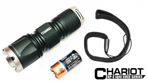CHARIOT Mini Tactical Flashlight -White LED