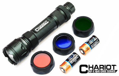 CHARIOT Multifunction Tactical Flashlight -White LED