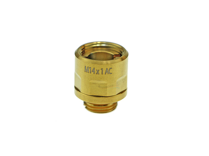 CowCow A01 Stainless Steel Silencer Adapter (11mm to 14mm, Gold)