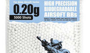 Guarder 6mm 0.20g Biodegradable Airsoft BBs (5000 rounds, Bag)