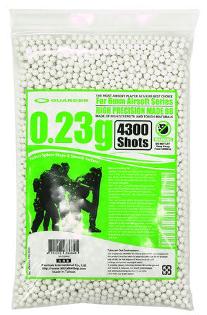 Guarder High Precision Made - 0.23g BB Pellets (4300 rounds, Bag)
