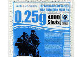 Guarder High Precision Made - 0.25g BB Pellets (4000 rounds, Bag)