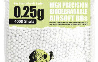 Guarder 6mm 0.25g Biodegradable Airsoft BBs (4000 rounds, Bag)