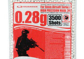 Guarder High Precision Made - 0.28g BB Pellets (3500 rounds, Bag)