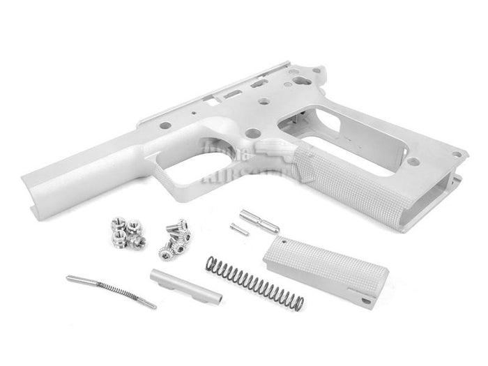Airsoft Masterpiece 1911 Square Trigger Guard Aluminum Frame (Silver, No Marking)
