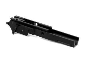 Airsoft Masterpiece Aluminum Advance Frame with Tactical Rail  - New Infinity Logo (Black)