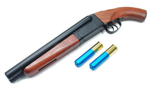 HAW SAN Mad Max Double Barrel Airsoft Gas Shotgun (Full Metal Real Wood)