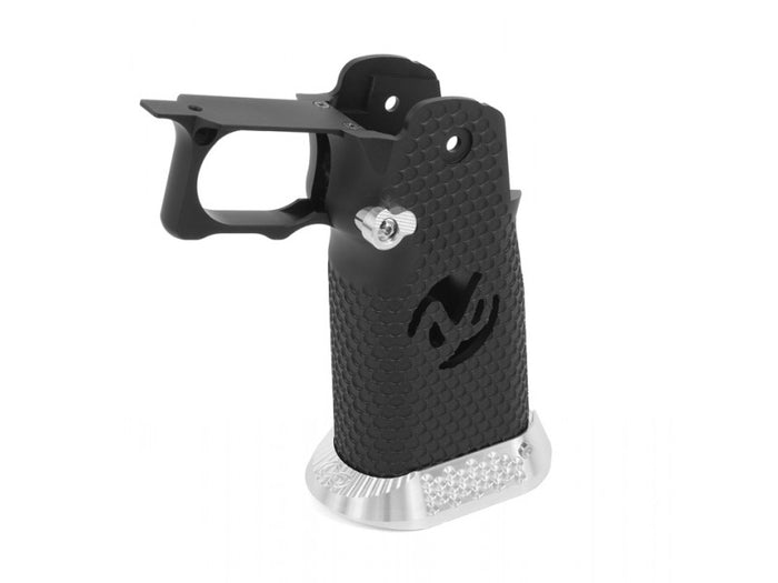 Airsoft Masterpiece Aluminum Grip for Hi-CAPA Type 2 (Black)