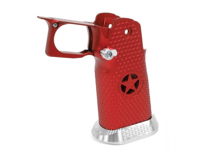 Airsoft Masterpiece Aluminum Grip for Hi-CAPA Type 5 - Texas Rangers (Red)