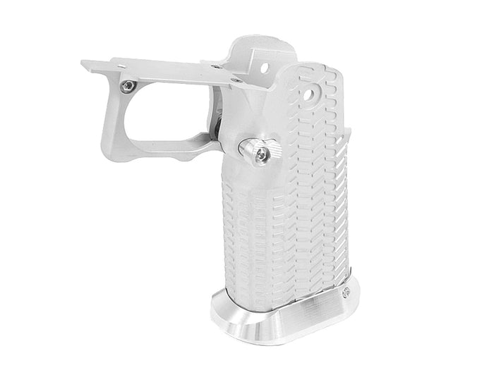 Airsoft Masterpiece Aluminum Grip for Hi-CAPA Type 10 (Silver)