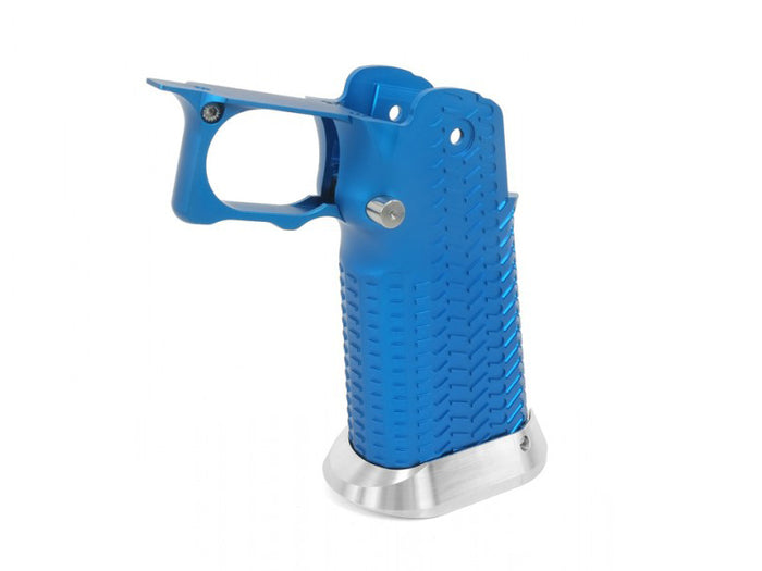 Airsoft Masterpiece Aluminum Grip for Hi-CAPA Type 11 (CK Ver. with STI Mag Release) Blue