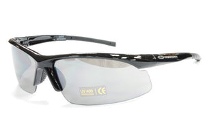 Guarder C6 Polycarbonate Eye Protection Glasses - Polished Black